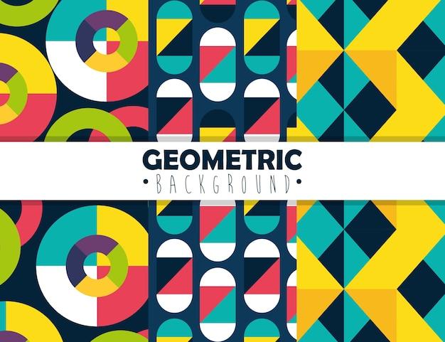 Figure geometriche e colori ambientano sfondi