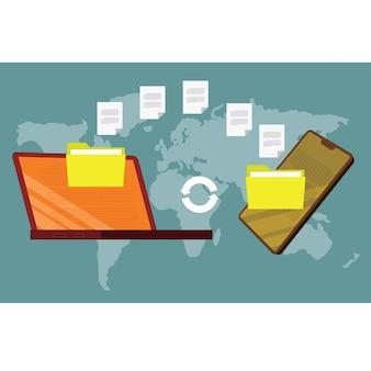 File di trasferimento per tablet pc