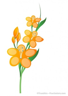 Filiale fiore giallo illustrazione