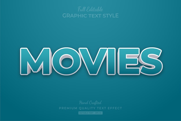 Film modificabili eps effetto stile testo premium