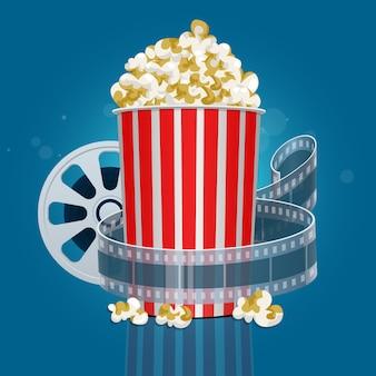 Film popcorn design illustrazione