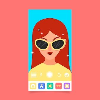Filtro instagram ar con occhiali da sole