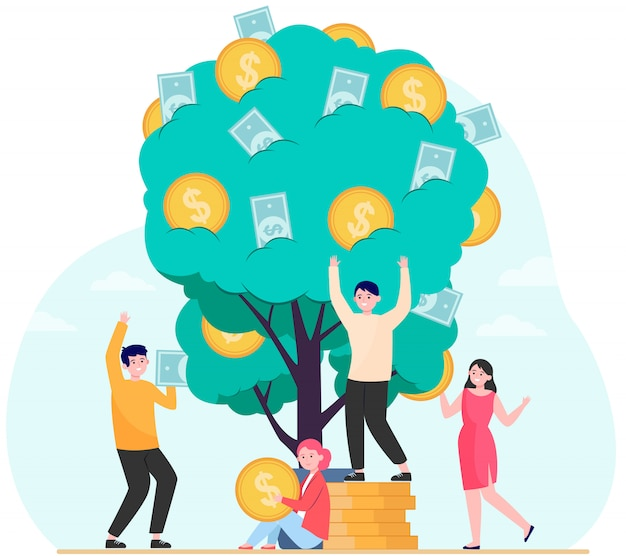 Finanza, entrate, concetto di crescita finanziaria