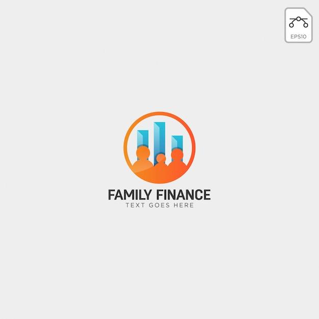 Finanziamento della famiglia, elemento dell'icona dell'illustrazione di vettore del modello di logo di affari