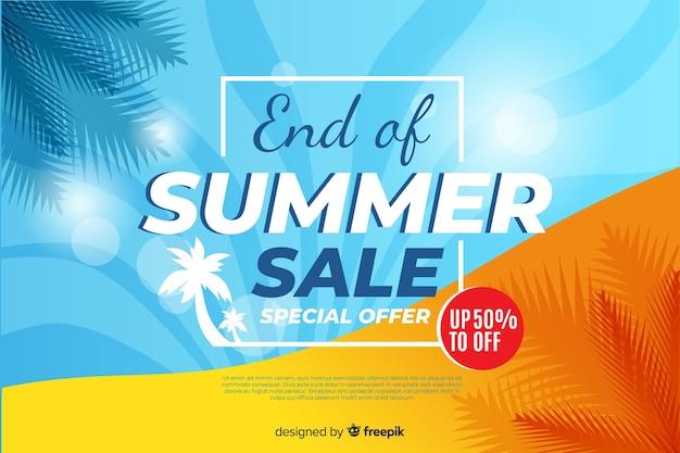 Fine della vendita di estate sfondo