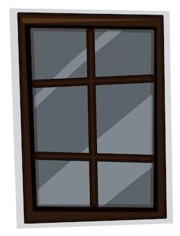 Finestra con cornice in legno