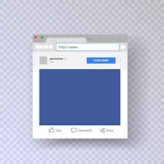 Finestra del browser con account instagram