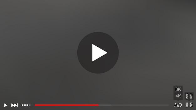 Finestra del lettore video con menu e pulsanti