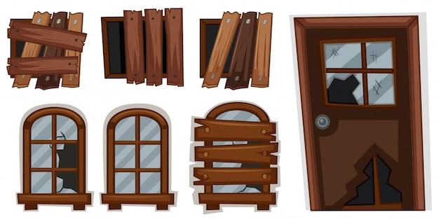 Finestre e porta rotti