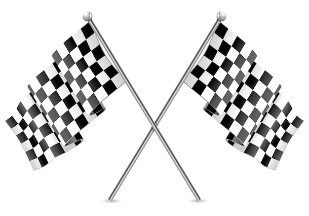 Finitura bandiere a scacchi da corsa