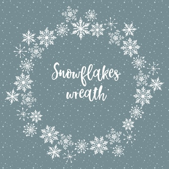 Fiocchi di neve bianchi - corona di natale