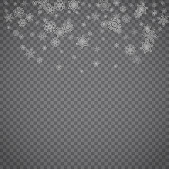 Fiocchi di neve di natale e capodanno