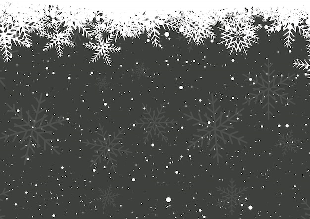 Fiocchi di neve invernali