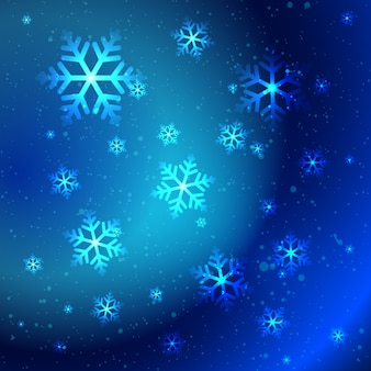 Fiocchi di neve lucidi astratti