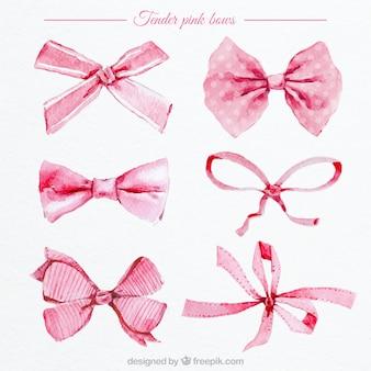 Fiocchi rosa acquerello