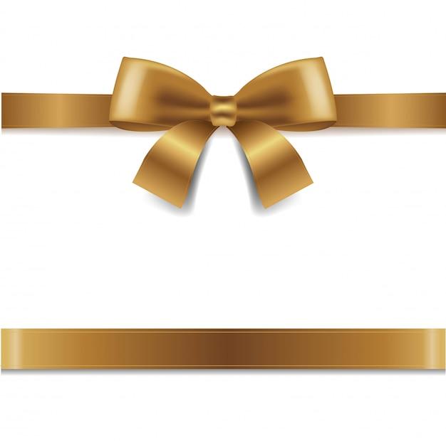 Fiocco d'oro sfondo bianco