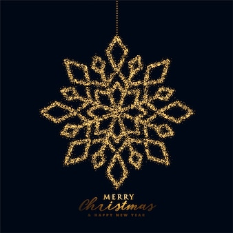 Fiocco di neve di natale in colore nero e oro