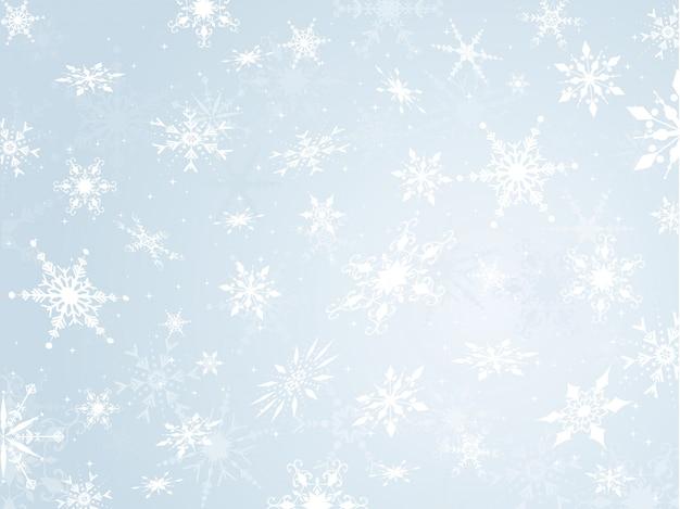 Fiocco di neve sullo sfondo