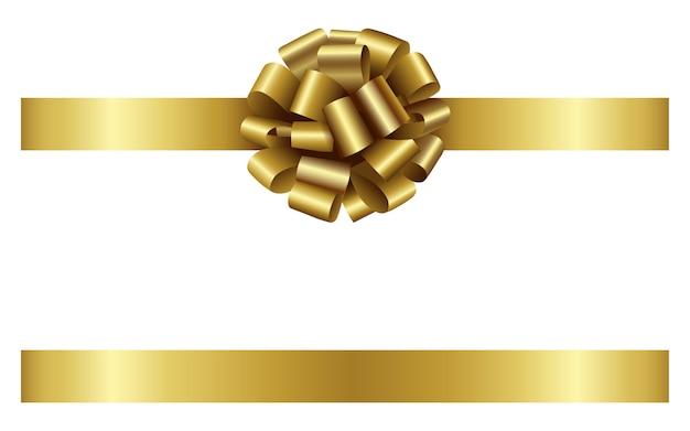 Fiocco e nastro d'oro