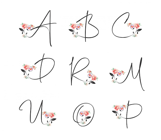 Fiore alfabeto