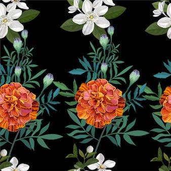 Fiore arancione, calendula francese