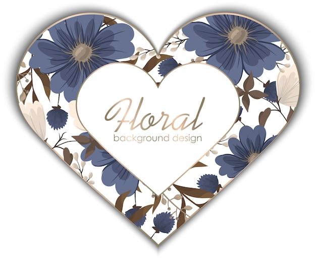 Fiore blu del pensionante del fiore della primavera