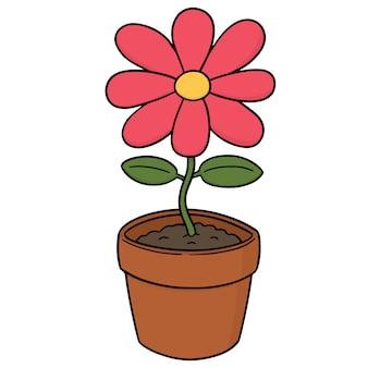 Fiore di cartone animato