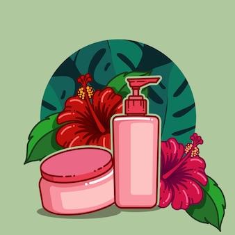 Fiore di ibisco per prodotti sani e cosmetici