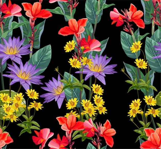 Fiore tropicale senza soluzione di continuità