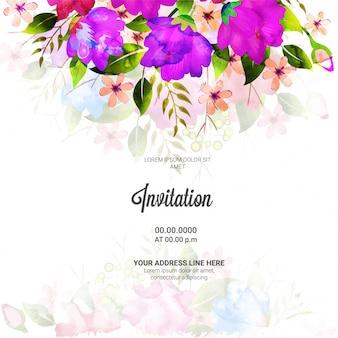 Fiori decorati, invitation card design.