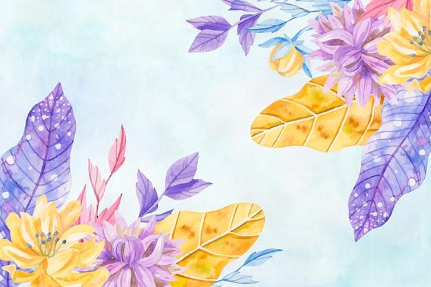 Fiori dell'acquerello del fondo nei colori pastelli