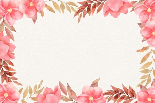 Fiori dell'acquerello di colori pastelli del fondo