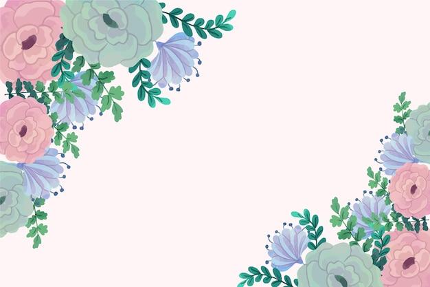 Fiori dell'acquerello per il disegno di sfondo in colori pastello