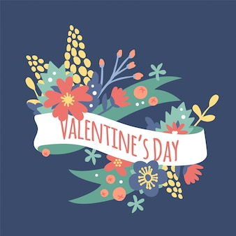Fiori di decorazione vintage valentine day