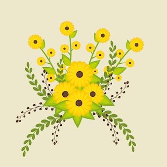 Fiori e disegno floreale.