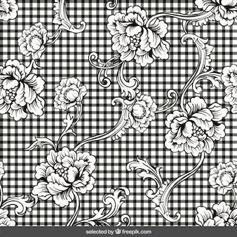 Fiori ornamentali su sfondo percalle
