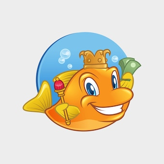 Fish king mascot