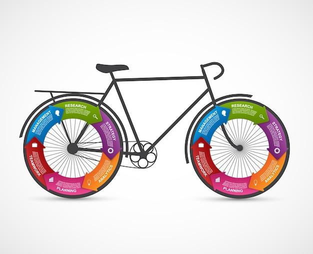 Fitness e sport design infografica elemento.