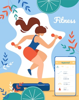Fitness e stile di vita sano banner sport all'aperto