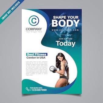 Fitness flyer design