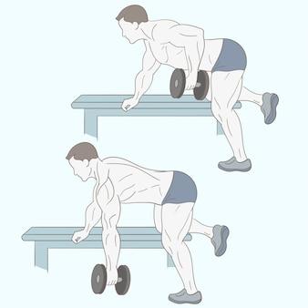 Fitness uomo facendo esercizio