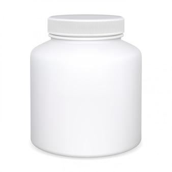 Flacone integratore, vasetto per pillole, confezione di medicinali