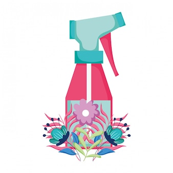 Flacone spray con decorazione floreale