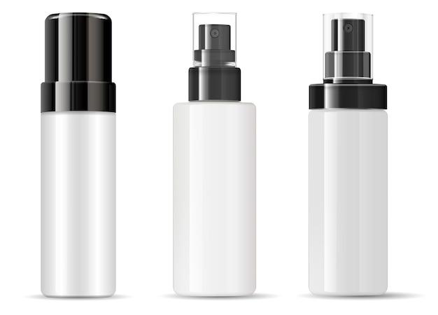Flacone spray confezione cosmetica vuoto in plastica