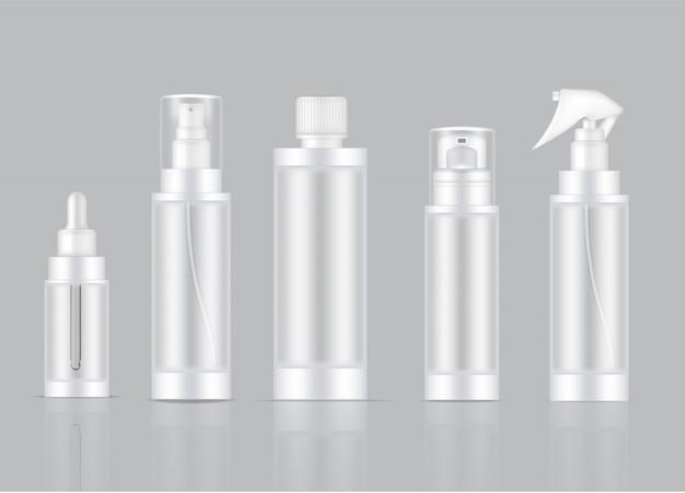 Flacone spray per prodotti cosmetici trasparenti