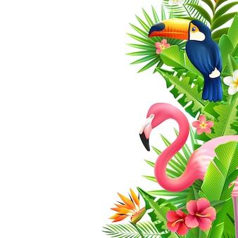 Flamingo della foresta pluviale tropicale