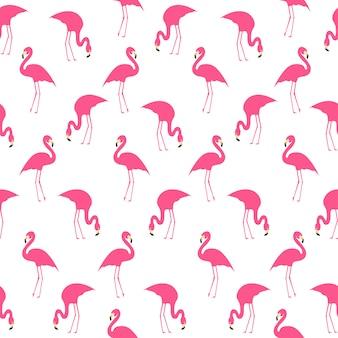 Flamingo summer seamless pattern