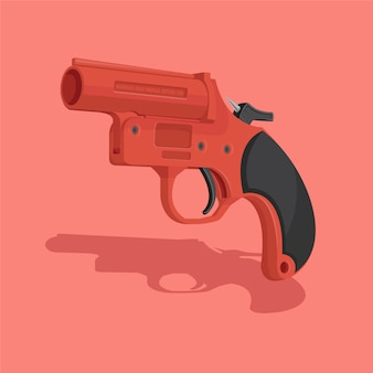 Flare gun vector illustration