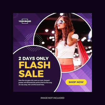 Flash sale violet instagram promo social media