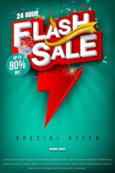 Flash vendita brillante banner o poster.